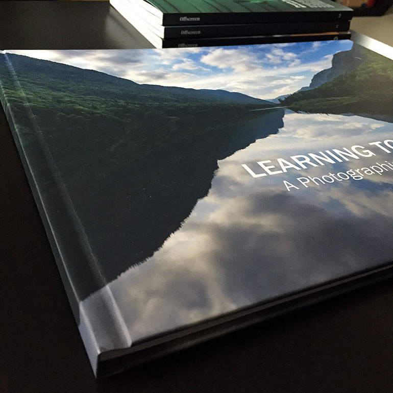 Professionally bound photo book by Pikto.