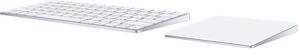 Magic trackpad and keyboard